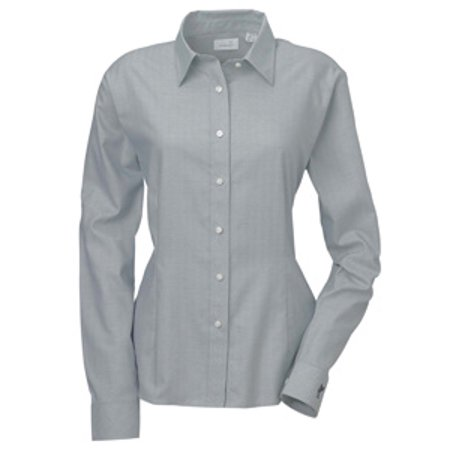 Ashworth Button Up Shirt 7172C Ladies' EZ-Tech Herringbone