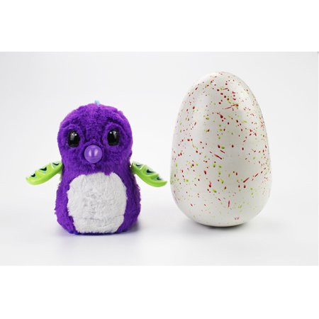 Hatchimals Glittering Garden  Hatchimals Hatching Egg Interactive Creature Penguala Toy For Kids Girls Boys  Purple