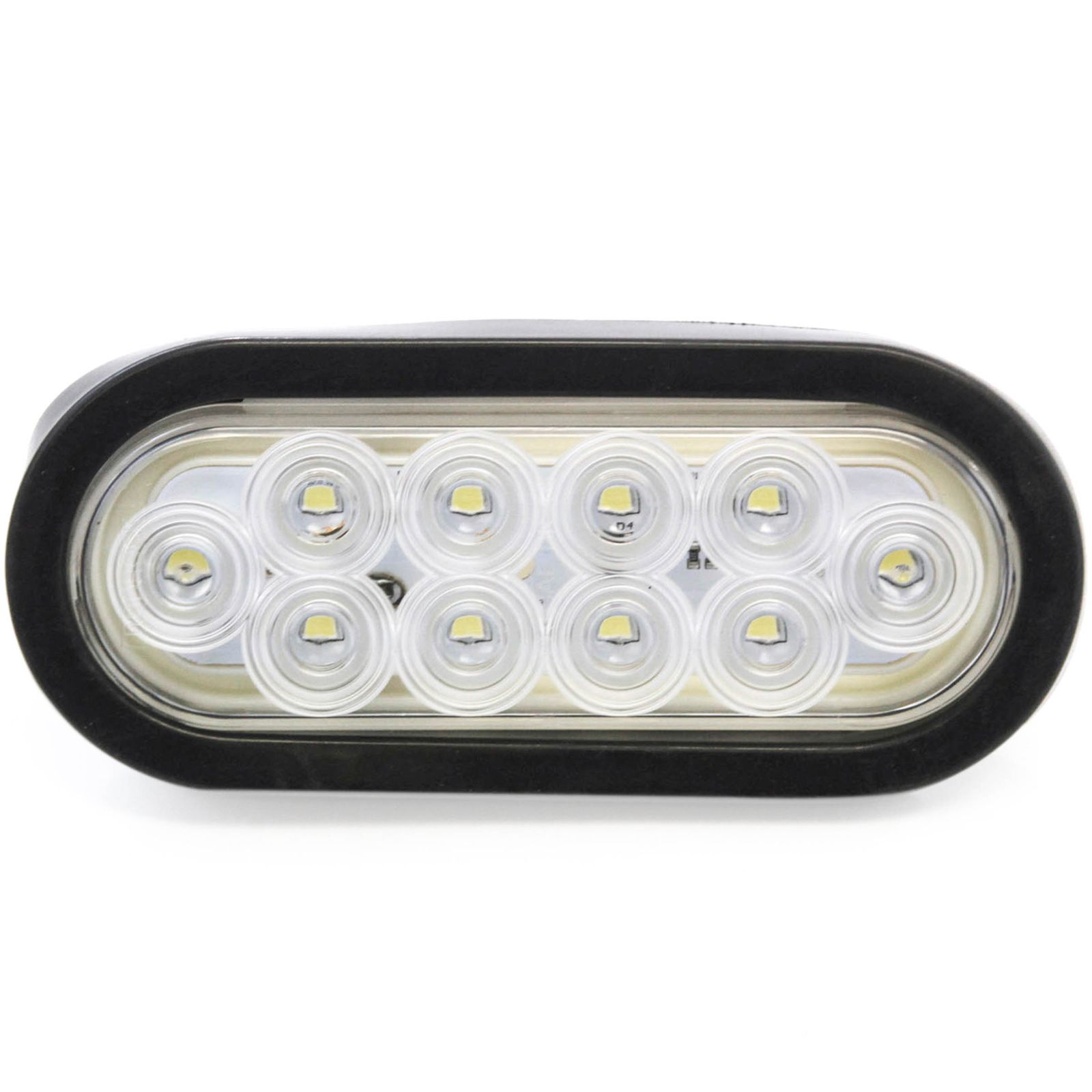 "6"" Oval Clear LED Reverse Back-up Light Flush Mount Trailer Truck -  Walmart.com"