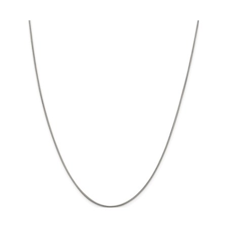 925 Sterling Silver .8mm Square Snake Chain - image 5 de 5