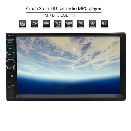 Mp5 Front (EinCar Car MP5 Player Double Din Car Stereo Radio with 7 Inch Capacitive Touch Screen Support Front AUX USB/TF Card In Bluetooth FM Radio Audio Cam-In with Remote Control )