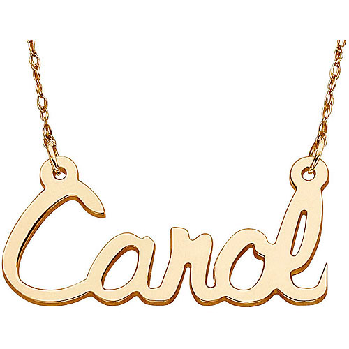 Personalized Women's 10kt Gold Script Name Necklace, 18""