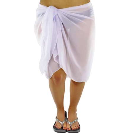 Plus Size Sheer Knee Length Cover Up Sarong Wrap For Women