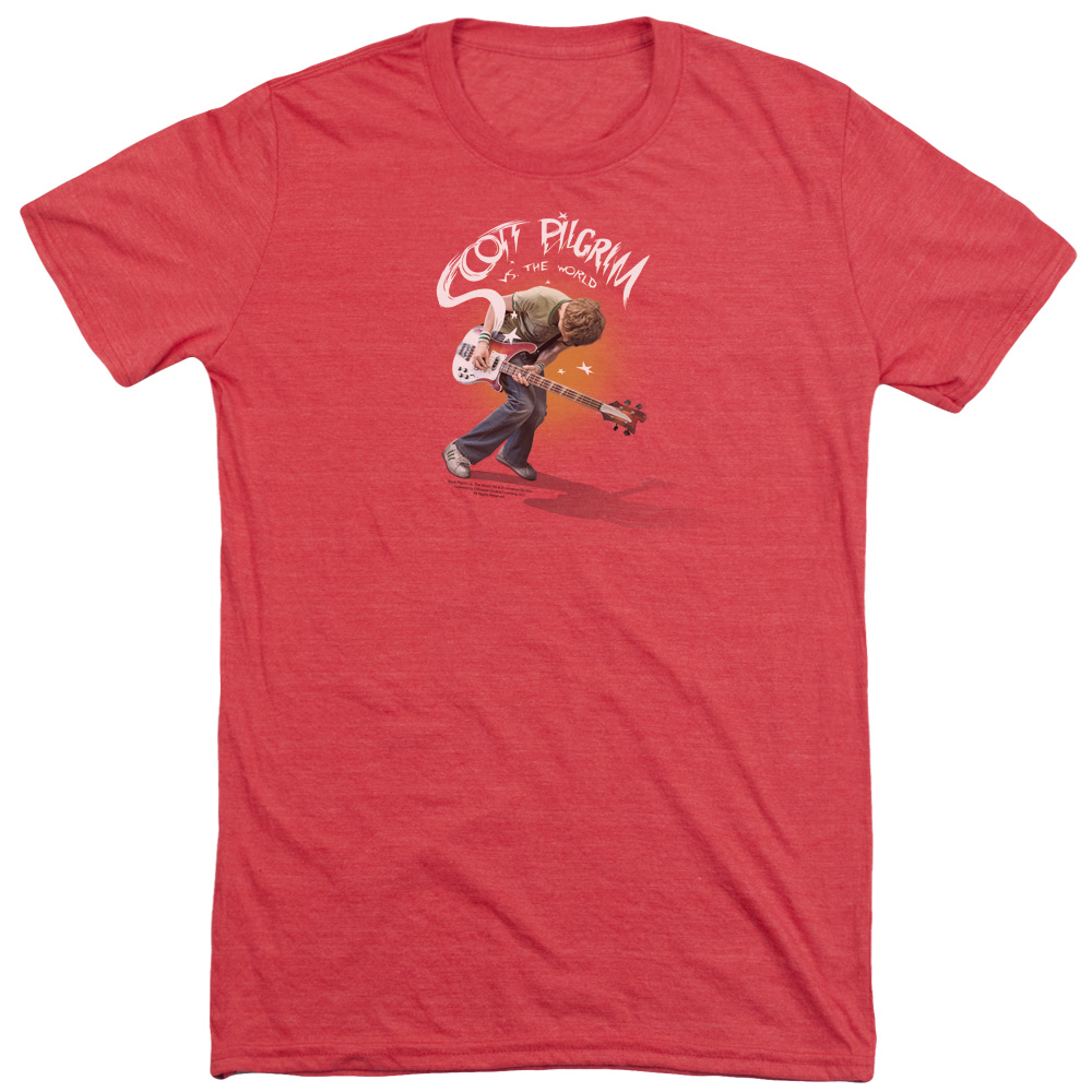 Scott Pilgrim Scott Poster Mens Tri-Blend Short Sleeve Shirt