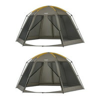 Wenzel 14x12 Foot Biscayne Light Portable Spacious Screen House Tent (2 Pack)