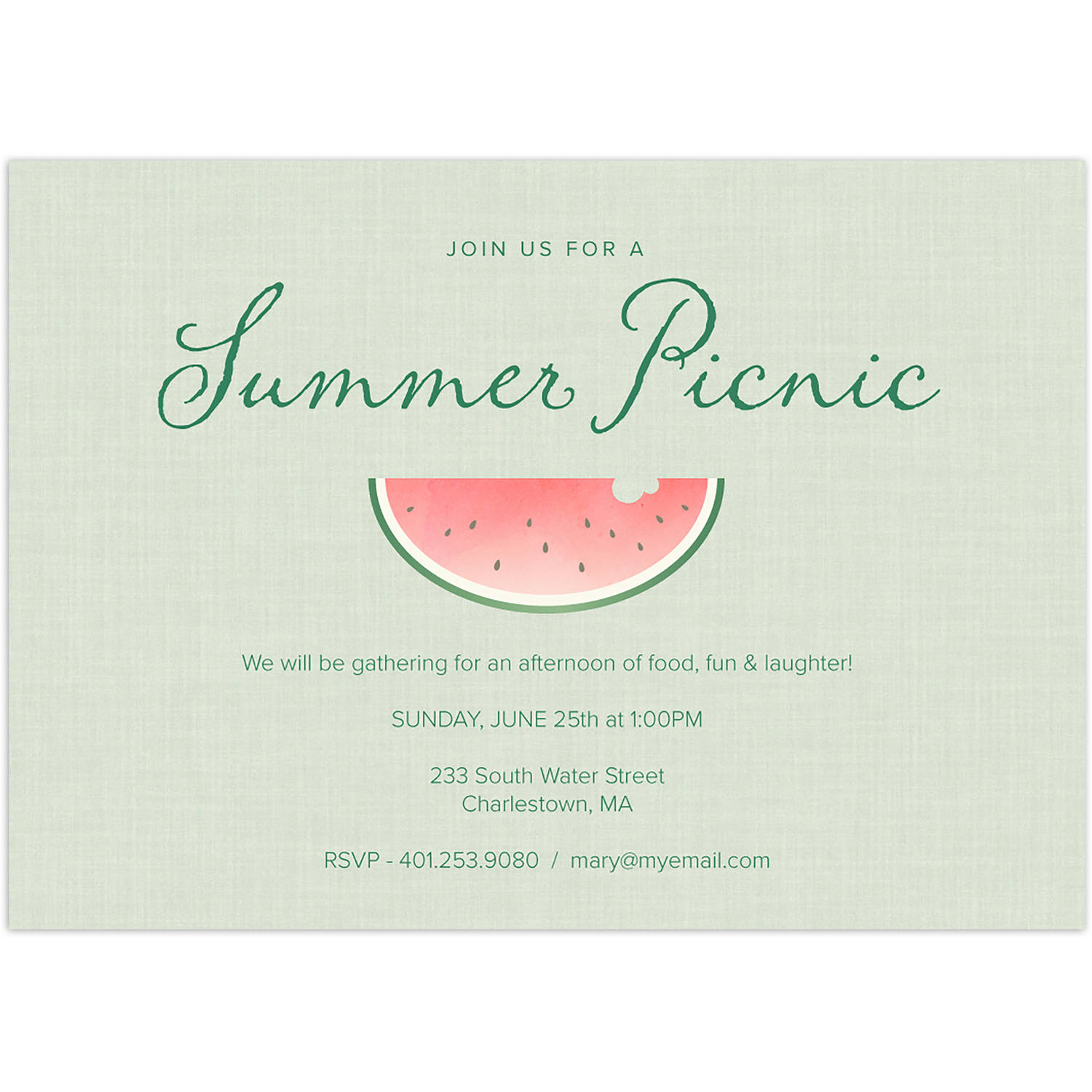 Summer Watermelon Party Summer Invitation