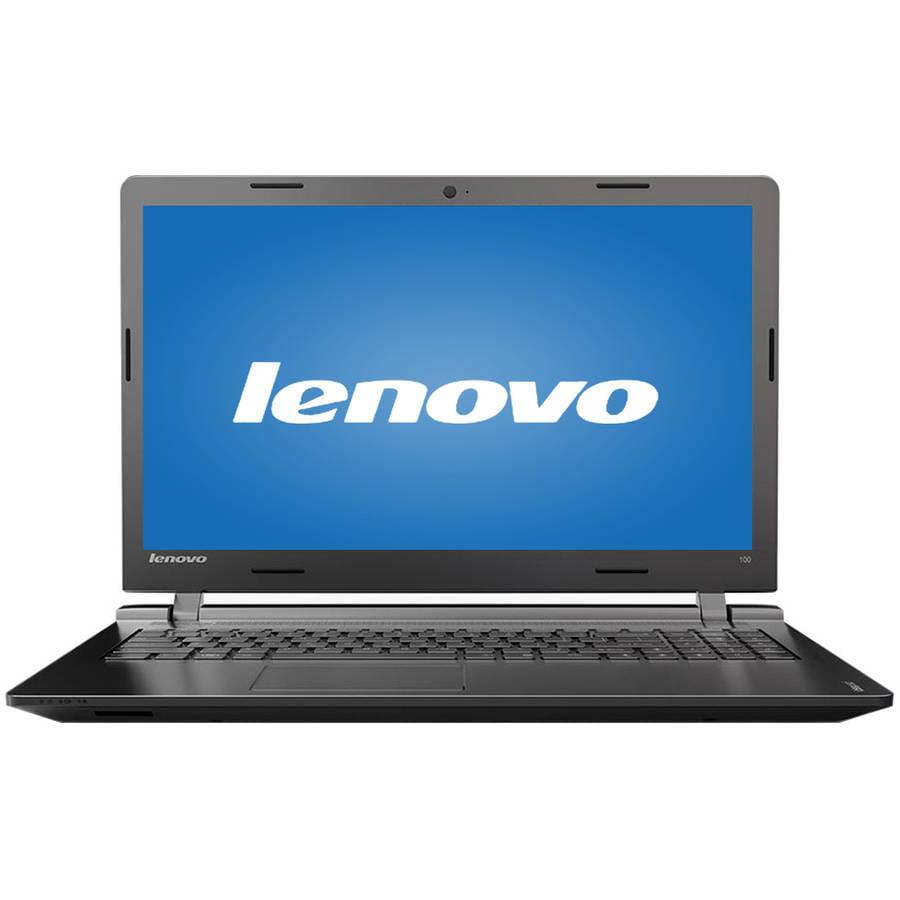 "Lenovo Black 15.6"" Ideapad 100 80QQ00JGUS Laptop PC with Intel Core i5-5200U Processor, 4GB Memory, 1TB Hard Drive and Windows 10"