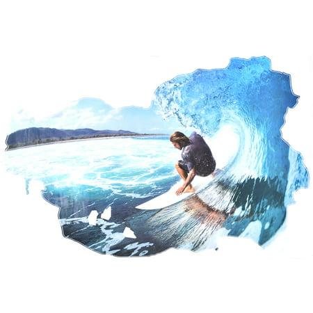 PVC Surfing Prints DIY Ornament Wall Sticker Decal Mural 60 x 90cm