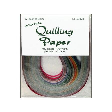 Lake City Quilling Paper Pkg 100Pc 1 8  Touch Slvr