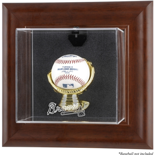 MLB - Atlanta Braves Framed Wall Mounted Logo Baseball Display Case