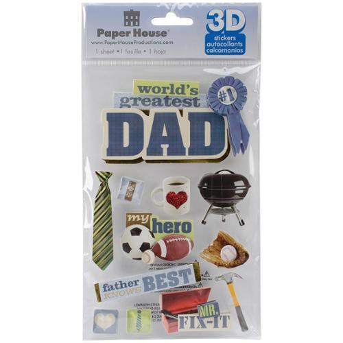 Paper House 3-D Sticker - Dad