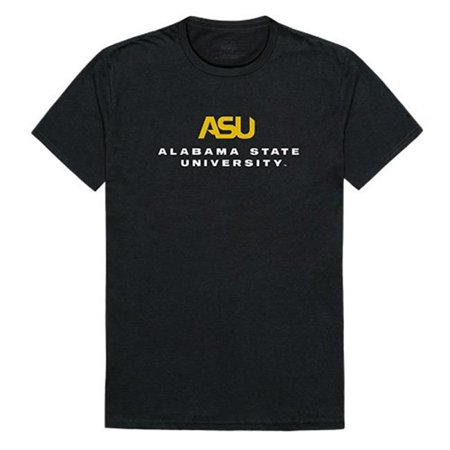 W Republic Apparel 516-102-E27-01 Alabama State University Mens Institutional Tee, Black - Small - image 1 de 1