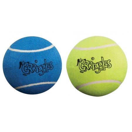 XLarge Dog Tennis Balls 5 Inch Durable Chew Classic Felt Toy Colorful Assortment (2 Balls)