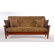 Wood Futon Frame In Cherry Finish w Slat Sides (Twin Lounger)