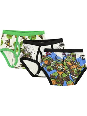 """TMNT Little Boys' """"4 Brothers"""" 3-Pack Briefs (Sizes 4 - 7)"""