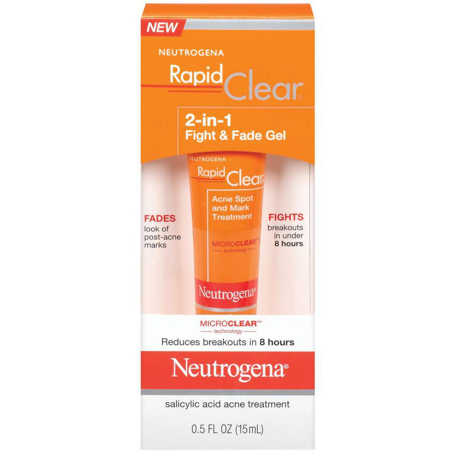 Neutrogena 2-In-1 Fight & Fade Gel Rapid Clear .5 fl oz - Walmart.com