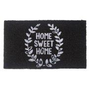 """Aspire Linens """"Home Sweet Home"""" Black Coir Doormat"""