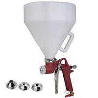 Zeny Air Hopper Spray Gun 1.5 Gallon Ceiling Wall Texture Paint Drywall Painting Sprayer w/3 Nozzles, 4.0, 6.0, 8.0mm Nozzle