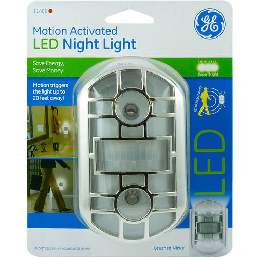 GE Nightlight Motion Activated, Brushed Nickel