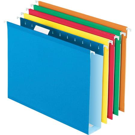 Pendaflex, PFX4152X2ASST, Box Bottom Colored Hanging Folders, 25 / Box, Assorted