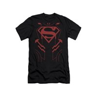 Justice League Of America DC Comics Superboy Armor Costume Adult Slim T-Shirt