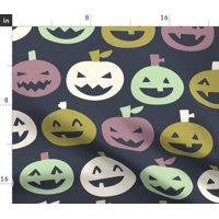 Jack O Lantern Halloween Candy Trick R Treat Fabric Printed by Spoonflower BTY