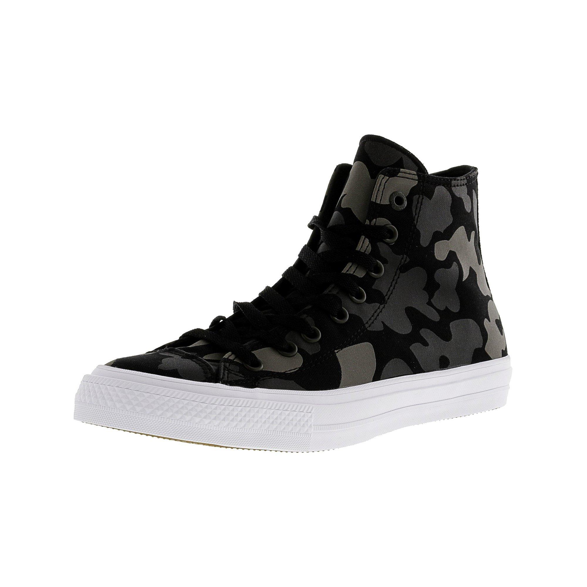53ea143933162c Converse Chuck Taylor All Star Ii Hi Black   Volt Green High-Top Canvas  Fashion Sneaker - 12M 10M