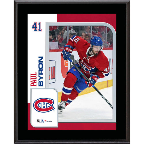 "Paul Byron Montreal Canadiens 10.5"" x 13"" Sublimated Player Plaque - No Size"