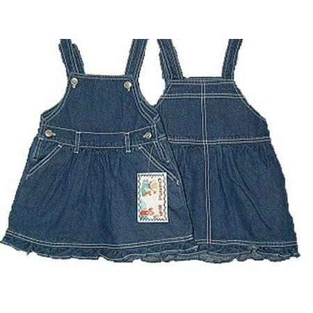 b1a72a02d39 Cheerful Kids - Infants Girls Sizes 12M 18M 24M Denim Jumper Dress.   1  Unit Pack   - Walmart.com