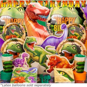 Dinosaur Adventure Ultimate kit  Serves 8 Guests - Party Supplies