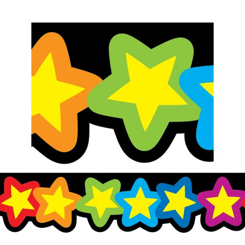 Creative Teaching Press Rainbow of Stars Classroom Border
