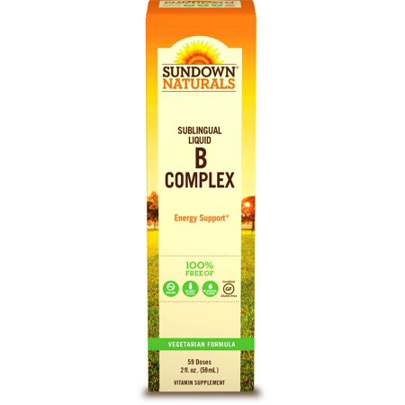 Sundown Naturals B Complex with B-12 Sublingual Liquid Vitamin Supplement, 2 fl (Best Natural Vitamin B Complex)