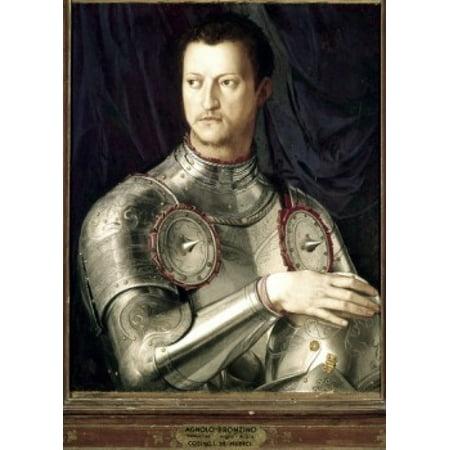 - Cosimo I de Medici in Armor 1545 Agnolo Bronzino (1503-1572 Italian) Oil on wood Galleria degli Uffizi Florence Italy Canvas Art - Agnolo Bronzino (18 x 24)