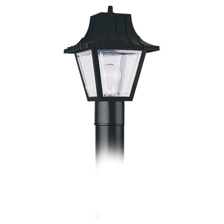 - Sea Gull Outdoor 8275 Post Lantern - 11H in. Black