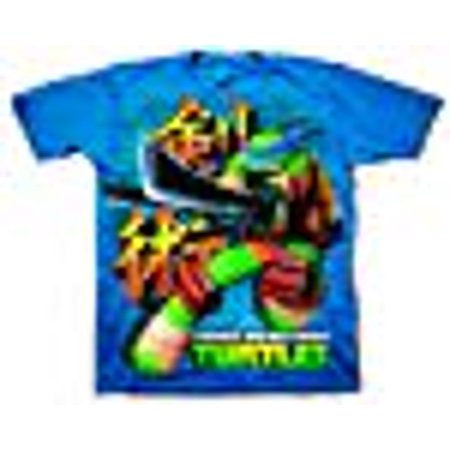 Tmnt Leonardo Sword Way Navy T-Shirt   XL (Leonardo Ninja Turtle Sword)