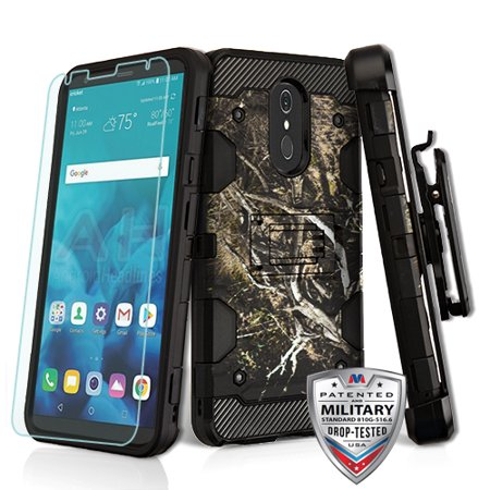 Phone Case for LG Stylo 4 Phone Case Combo TUFF Hybrid Impact Armor Rugged Rubber Hard Protective Cover Belt Clip Holster with Screen Protector - Vine