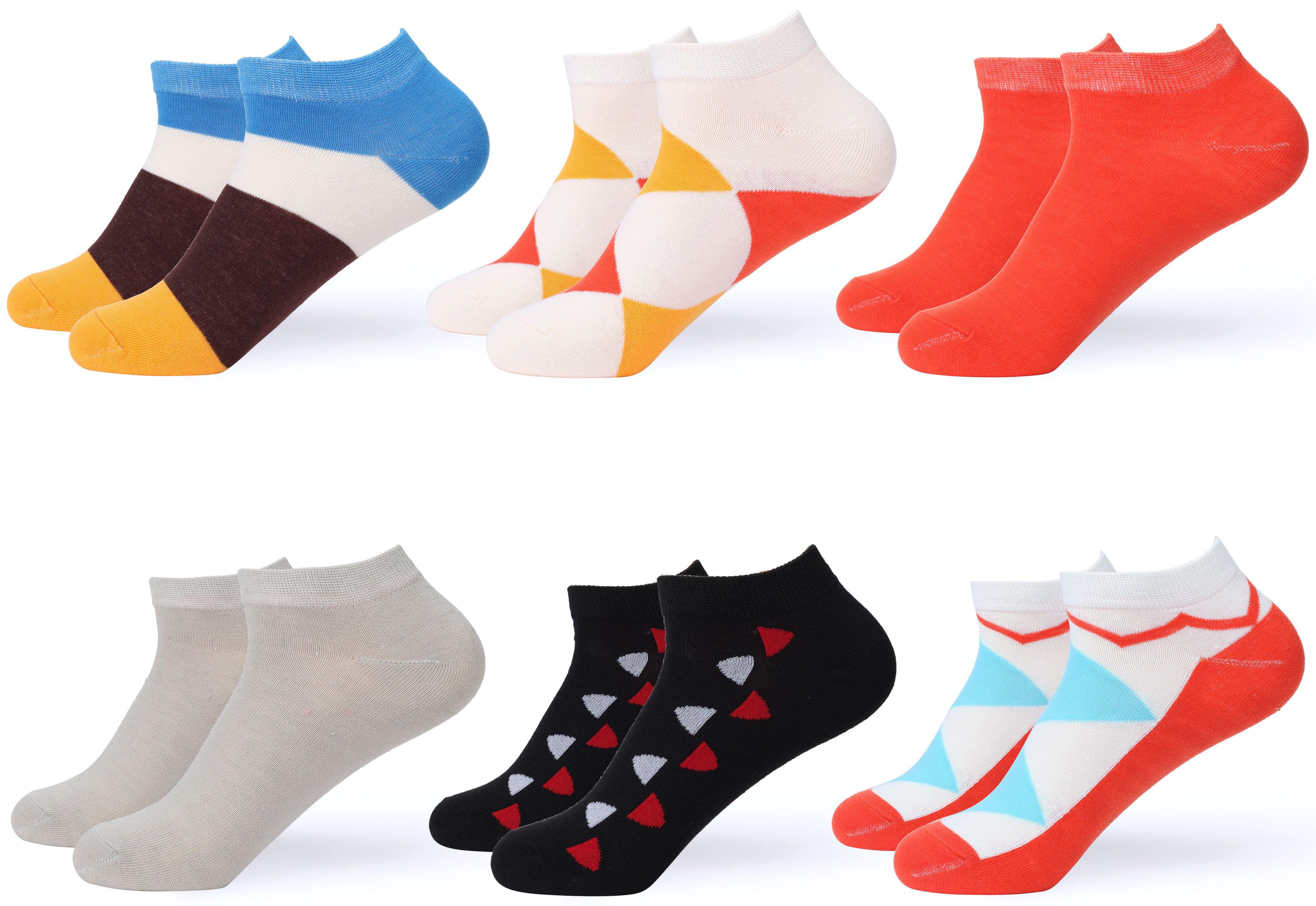 6 Pairs Women Girls Fashion Cotton School Casual Low Cut Socks Size 9-11 cat p