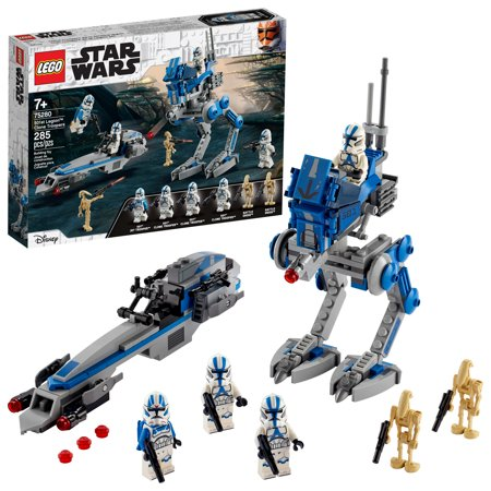 LEGO Star Wars 501st Legion Clone Troopers Building Kit, Cool Action Set for Creative Play 75280