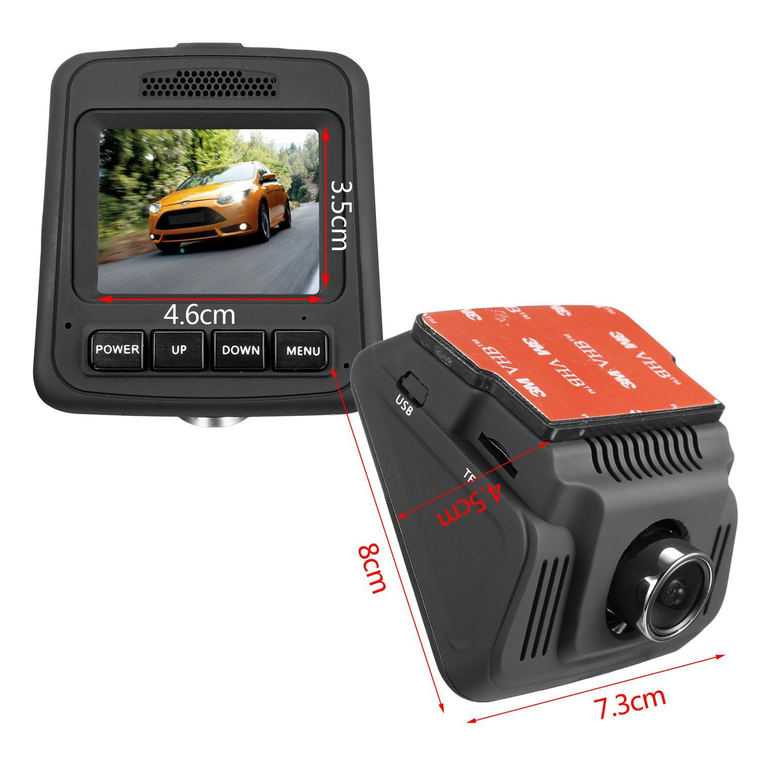 HD Wifi Dash Cam Dual Camera Dashcam 170° Angle Car Dash Camera Driving