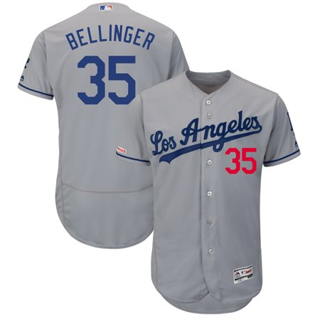 Cody Bellinger Los Angeles Dodgers Majestic Road Flex Base Authentic Collection Player Jersey -