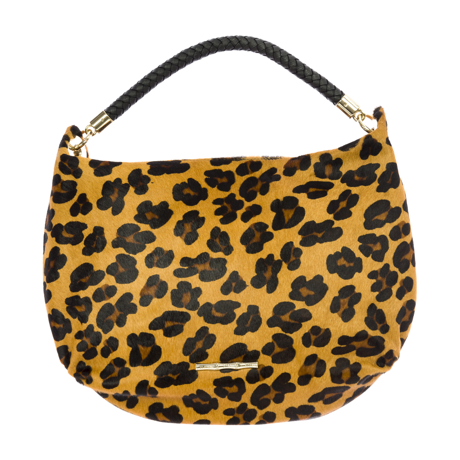 Elaine Turner Women's Calf Hair Stella Hobo Bag One Size Cheetah Print