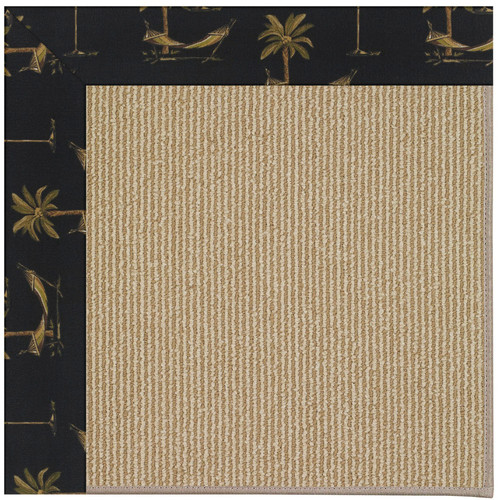 CAPEL Rugs Zoe Machine Tufted Jet Black/Brown Indoor/Outd...