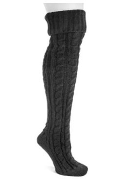 Women's Cable Knit Over the Knee Socks