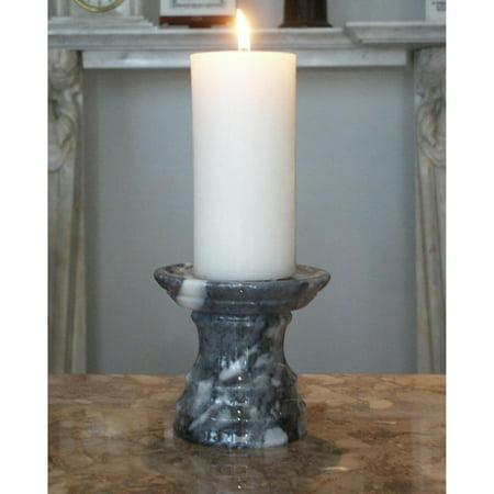 - Cashmere Grey Pedestal Candle Holder