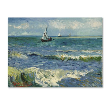 Trademark Fine Art 'Seascape Near Les Saintesmariesdelamer' Canvas Art by Van Gogh (Van Gogh Halloween)