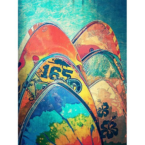 Graffitee Studios Rated G Kids Skimboard Float Graphic Art on Wrapped Canvas