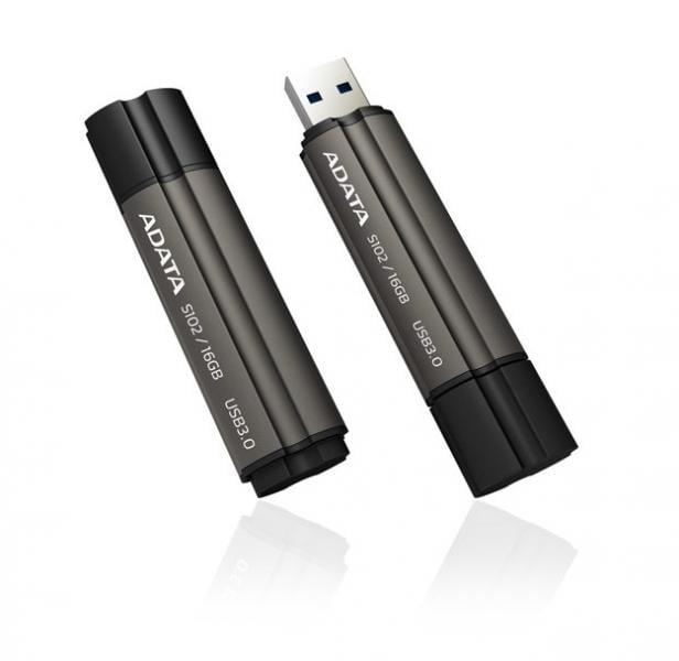 32GB AData DashDrive Elite S102 Pro USB3.0 Flash Drive (Titanium)