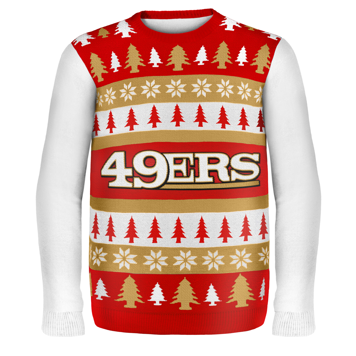buy online 509b5 c9066 San Francisco 49Ers Wordmark NFL Ugly Sweater X-Large