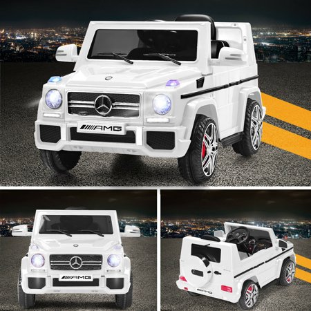 Costway Mercedes Benz G65 Licensed 12V Electric Kids Ride On Car RC Remote Control White - image 8 of 10
