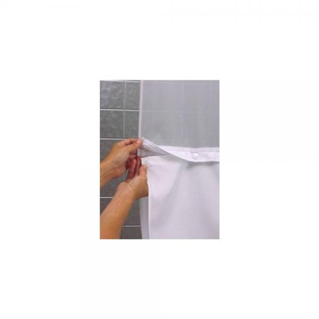 Hookless RBH40BBS01 Snap In Fabric Liner For Shower Curtains